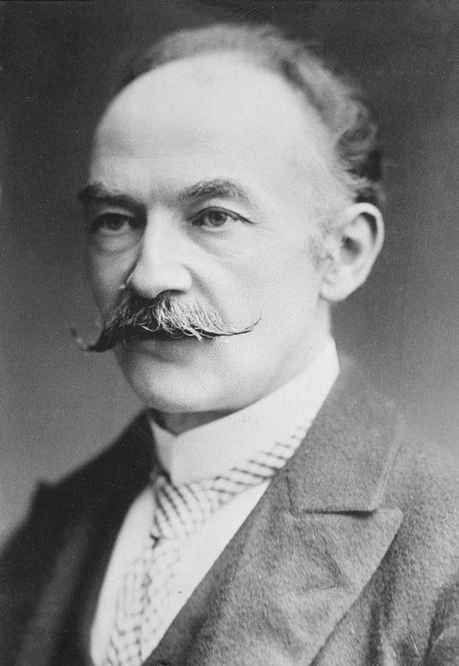 Black and white photo of Thomas Hardy