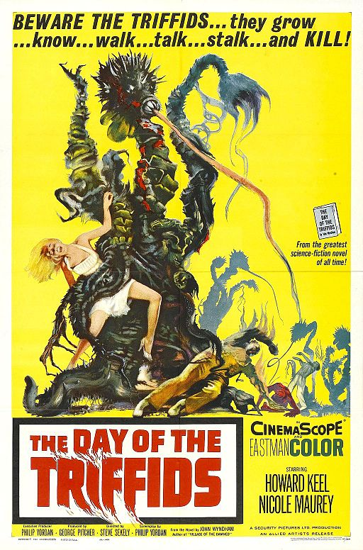 Poster for a fil version of Day of the Triffids