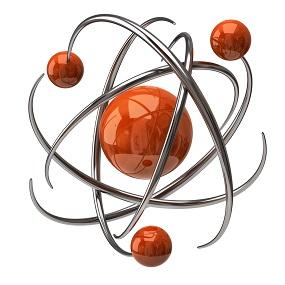 Digital illustration of an atom