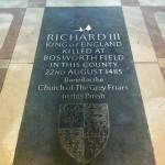 Memorial to King Richard III if England