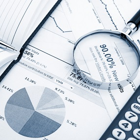 statistics information including a pie chart